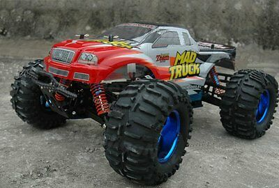 1:10 4X4 RTR MONSTER MAD TRUCK R/C OFF ROAD RED
