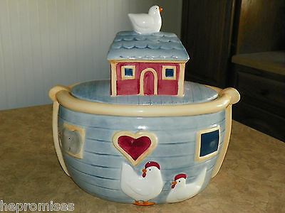NOAH'S ARK COOKIE JAR - By Susan Winget Certified International Co. - Ceramic