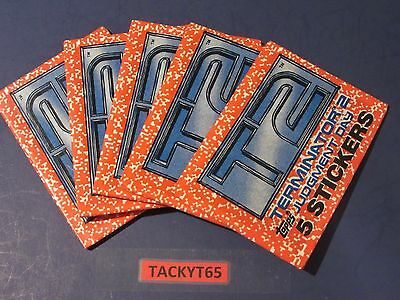1991 TERMINATOR 2 JUDGMENT DAY T2 STICKERS LOT OF (5) UNOPENED PACKS