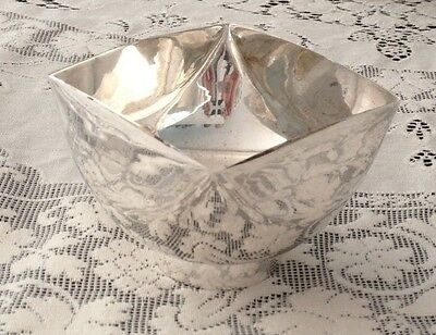 SILVERPLATE CANDY DISH c. 1970 in the style of WARD BENNETT