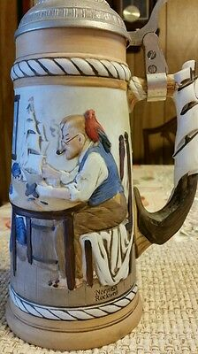 """Vtg limited edition Norman Rockwell Collector's Beer Stein """"For a Good Boy"""""""