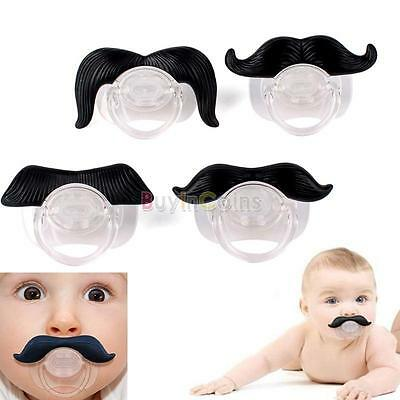 Cute Funny Mustache Baby Boy Girl Dummy Pacifier Orthodontic Nipples Beard Tool