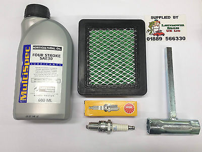 Honda Hrb475 Petrol Lawnmower Engine Service Kit Ngk Sparkplug Free P&P