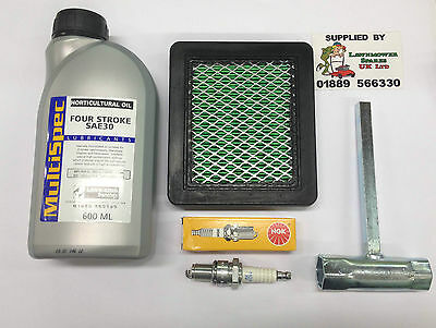 Honda Hrb425 Petrol Lawnmower Engine Service Kit Ngk Sparkplug Free P&P