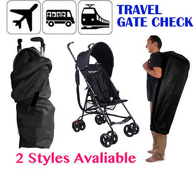 Gate Check Stroller Travel Bag Umbrella Pram/Pushchair/Buggy Waterproof Cover