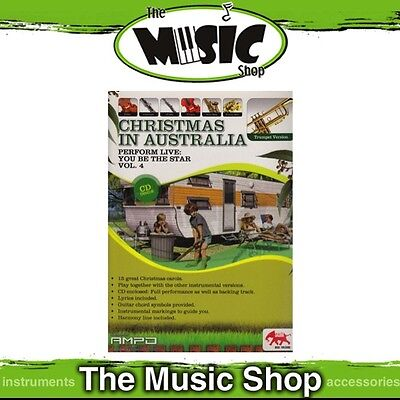 New Perform Live: Christmas in Australia for Trumpet Music Book & CD