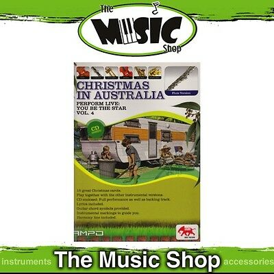 New Perform Live: Christmas in Australia for Flute Music Book & CD