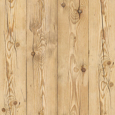 Wood Grained Self Adhesive Wallpaper Rustic Plank Wallcovering for Living Rooms