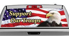 Truck Rear Window Decal Graphic [Eagle Flag 2 Support] 20x65in DC24708