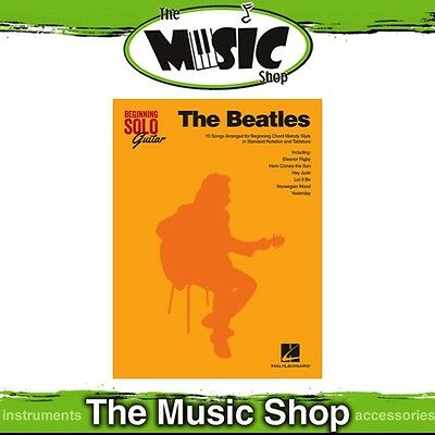 New The Beatles for Beginning Solo Guitar Music Book with Tab