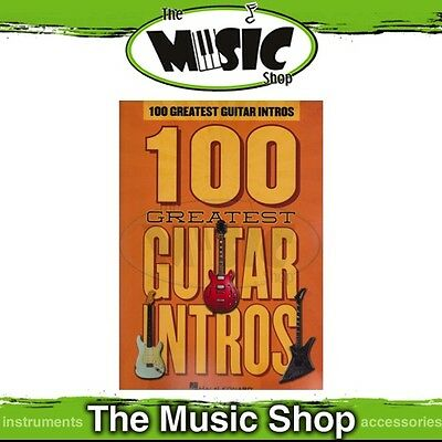 New 100 Greatest Guitar Intros Music Book with Tab - Guitar Songbook