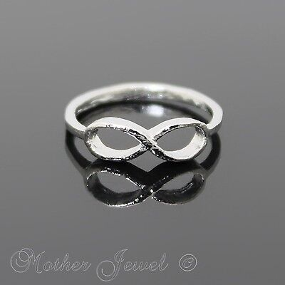 Silver Tone Ladies Girls Forever Infinity Eternity Dress Pinky Ring Size 5.5 Sml