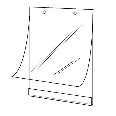 """SET OF 3 HANGING POSTER HOLDER SLEEVES A1 23.4"""" x 33.1"""" WITH FIXING ACCESSORIES"""