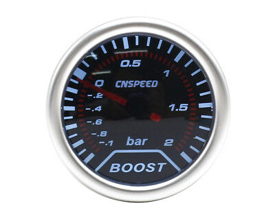 52mm Universal Smoked Turbo Boost gauge 2 Bar Turbo Diesel TD TDI TDCI