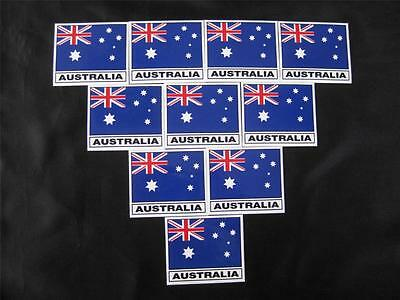 10 Australian Flag Stickers/decals - Great Buy - New (A)