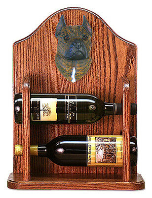 Staffordshire Terr Dog Wood Wine Rack Bottle Holder Figure Brin - 2 Bottles -...
