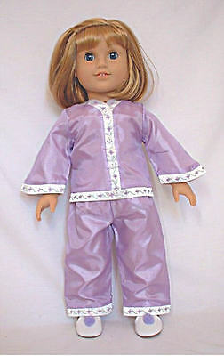 """Doll Clothes 18"""" Doll Victorian Pajamas Lavender Fits American Girl Doll Nellie"""