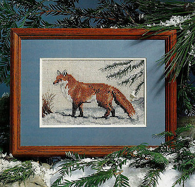 FOX in WINTER - Cross Stitch Pattern Removed from a Magazine