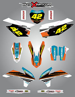 KTM SXF 2013 - 2015 Full  Custom Graphic  Kit - STRIKE STYLE stickers/decals