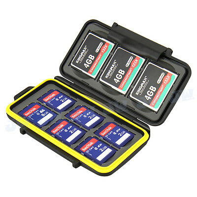 JJC Water-resistant Holder Storage Memory Card Case Protectors Cover For 6SD 3CF