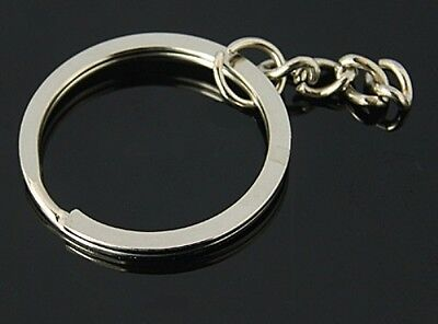 Split Key Rings 25Mm Blanks Iron Keyring Hoop Metal Loop Ring Link Chain Finding