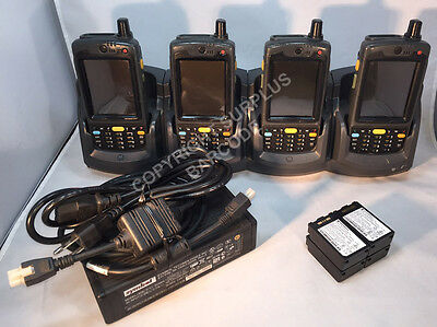 LOT OF 4 x Symbol Motorola MC7094 MC70 2D Barcode Scanner GSM WM6 +4SLOT Cradle
