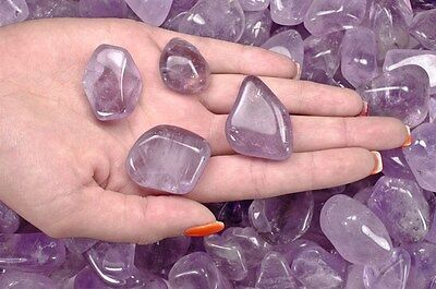 3 Pounds Tumbled Amethyst - 'AA' Grade - Wire Wrapping, Reiki, Crystal Healing