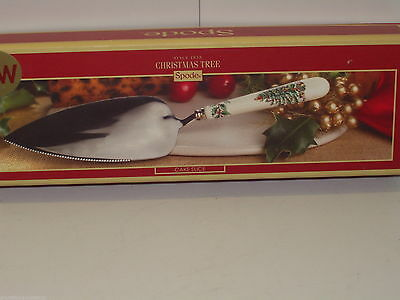 Spode Christmas Tree Cake Slice New and Gift Boxed