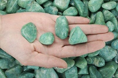 5 Pounds Tumbled Amazonite - 'AAA' Grade - Wire Wrapping, Reiki, Crystal Healing