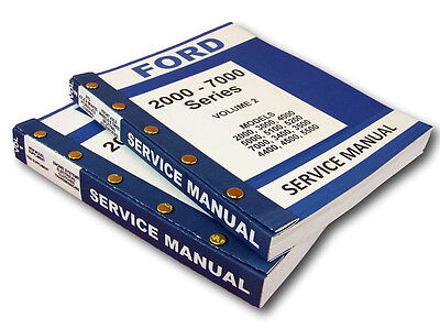 FORD 5000 SERIES TRACTOR SERVICE REPAIR SHOP MANUALS 944pg NEW COMPLETE SET