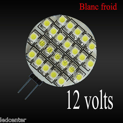 Ampoule Blanc Froid G4 24 LED SMD 3528 AC/DC 12 Volts 0,9 w CAMPING-CAR bateau
