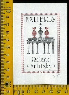 EX libris by E. aulitzky OP 197 T.D. N. x 6/2 1991 Writing Set NIB