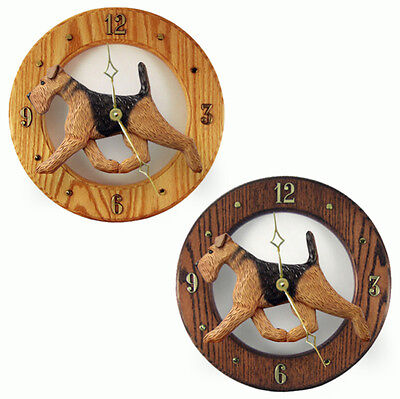 Airedale Wood Clock Wall Plaque