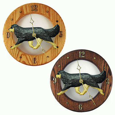Cavalier King Charles Wood Wall Clock Plaque Blk/Tan