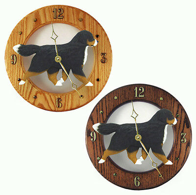Bernese Mt. Dog Wood Wall Clock Plaque
