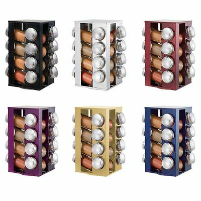 Revolving Metallic Spice Rack with 16 Jars-6 Colours to Choose from Top Quality
