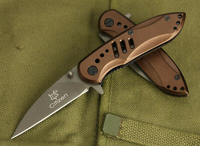 FOX Knife Assisted Opening Saber Pocket Folding Knife Camping Hunting 106c