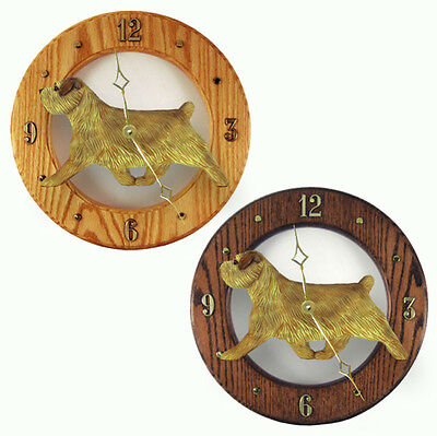 Norfolk Terrier Wood Wall Clock Plaque Grizzle