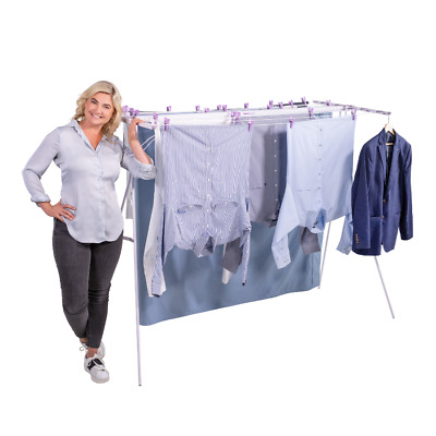 Mrs Peggs Classic 10 Line Clothesline Outdoor Indoor Portable Airer Clothes Line