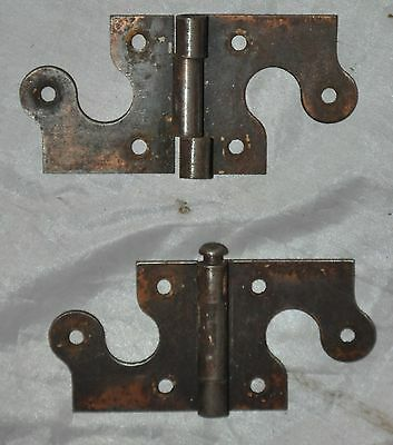 Pair Vintage Antique Hinges  lot 2