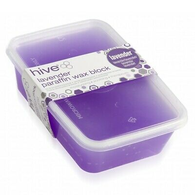 Hive Options Low Melt Lavender Paraffin Wax Waxing Block Moisturising Relaxing