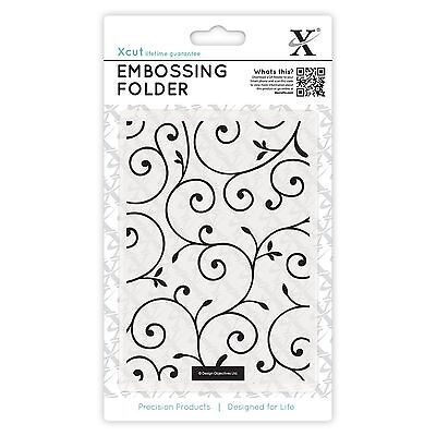 Docrafts Xcut A6 Embossing Folder Delicate Flourishes - New Universal Fit