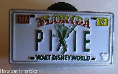 Disney WDW Hidden Mickey Collection License Plates PIXIE Pin