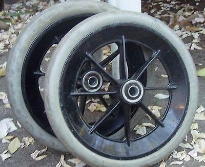 "Powerchair Wheelchair Scooter Caster Wheel Set  (2) 7 3/4"" x 1"""