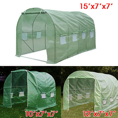Larger Walk In Greenhouse Tunnel Hot Green House Outdoor Plant Gardening 3 Size