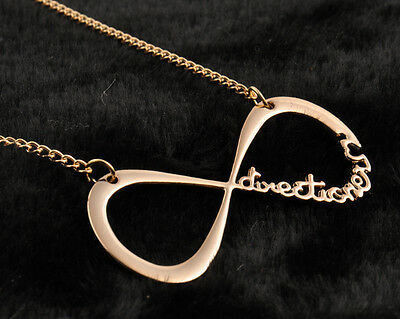 New Hot Fashion 1D One Direction Infinity 8 Symbol forever love Gold Necklace