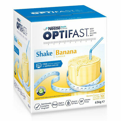 ツ OPTIFAST VLCD SHAKE BANANA SACHETS 53G x 12 PACK