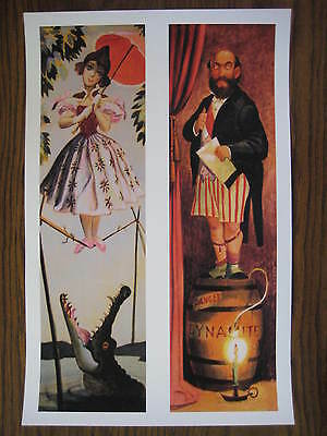 Vintage Disney ( Haunted Mansion stretching Room ) 1&2 Collector's Print - B2G1F