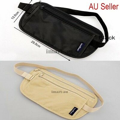 Travel Security Bag Passport Waist Pouch Card Ticket Money Belt Secret Wallet