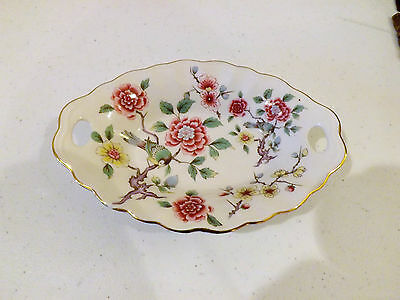 Old Foley James Kent Staffordshire England Chinese Rose Bowl